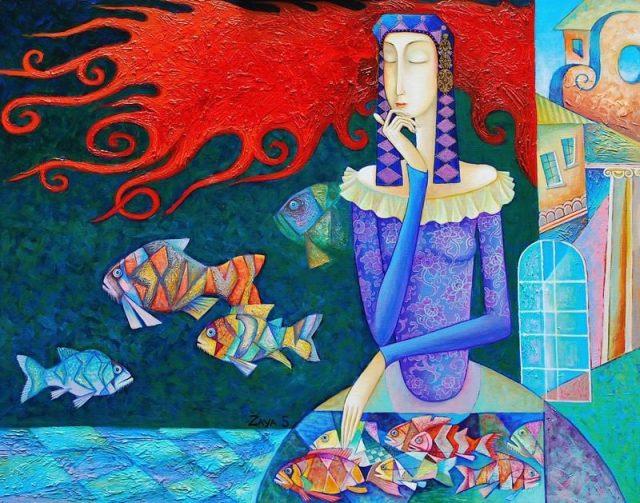картины монгольского художника Zayasaikhan Sambuu